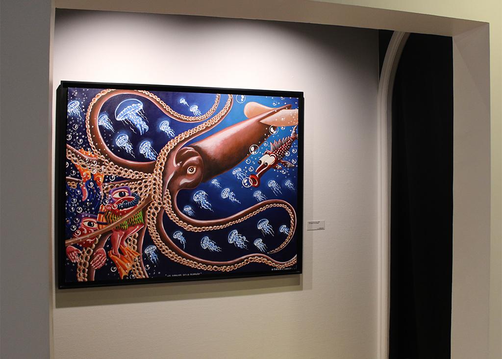 Hervé di Rosa, Les dangers de la plongée, Acrylique sur toile, 139 x 93 cm