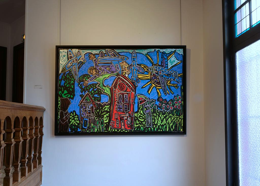 Robert Combas, Sans titre, Acrylique sur toile, 192 x 130 cm